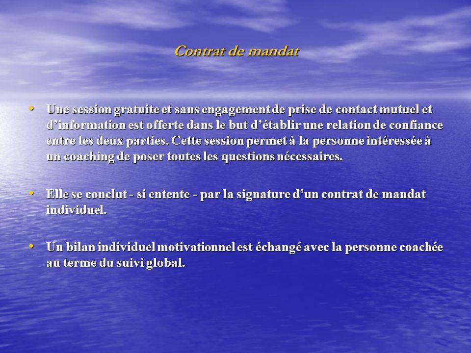 Contrat de mandat Une session gratuite et sans engagement de prise de contact mutuel et dinformation est offerte dans le but détablir une relation de