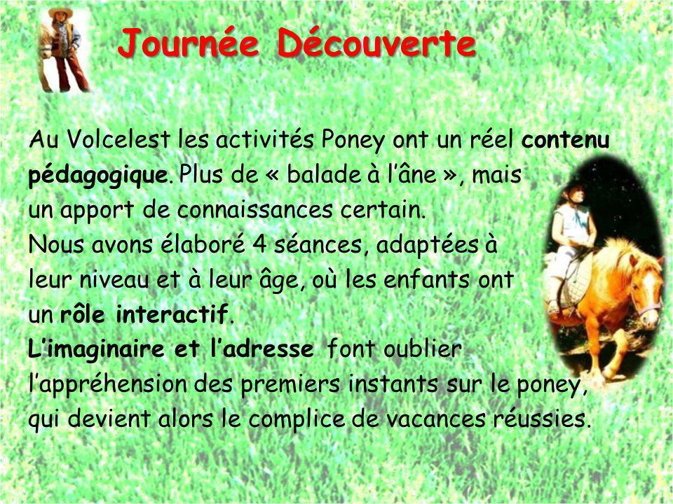 Journée Découverte Au Volcelest les activités Poney ont un réel contenu pédagogique. Plus de « balade à lâne », mais un apport de connaissances certai