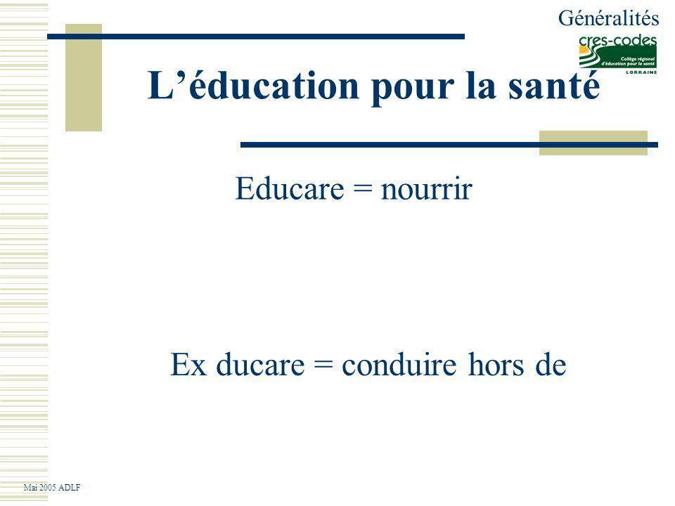Léducation pour la santé Ils prétendent développer un savoir, un savoir- faire et un savoir-être et un pouvoir-faire permettant à chacun et à chaque communauté datteindre le plus haut degré de santé possible.