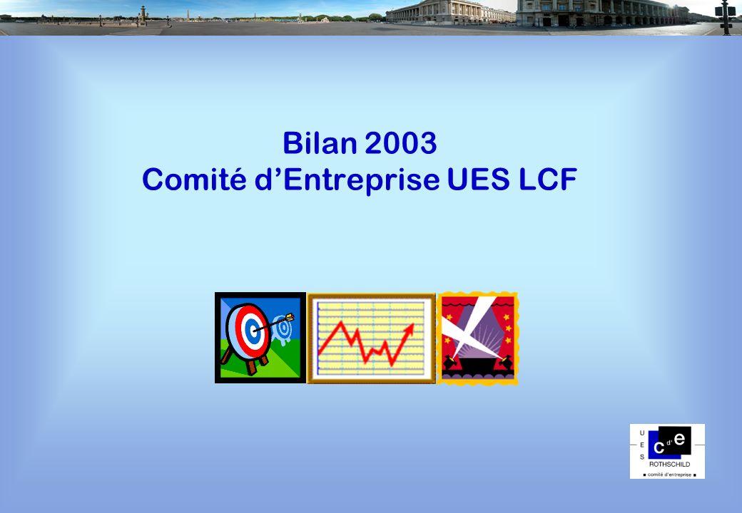 Bilan 2003 Comité dEntreprise UES LCF