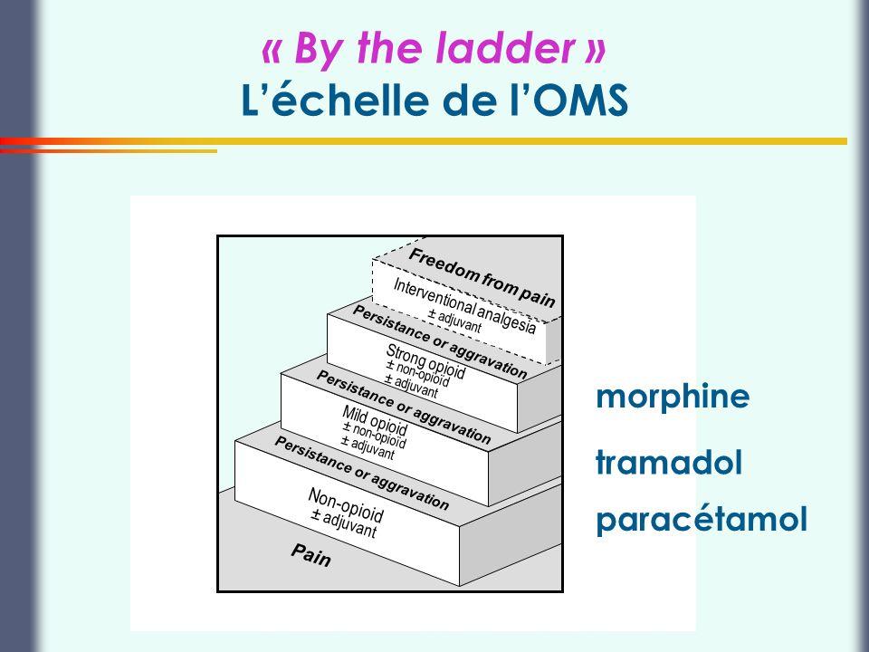 Thierry Buclin, Pharmacologie et Toxicologie cliniques, CHUV Lausanne « By the ladder » Léchelle de lOMS Pain Non-opioid ± adjuvant Persistance or agg