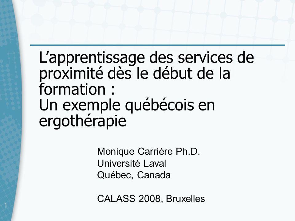 22 Pour me rejoindre Monique Carrière Département de réadaptation Faculté de médecine Université Laval Québec (Québec) G1V 0A6 Téléphone : 418-656-2131 #3212 Télécopieur : 418-656-5476 Courriel : monique.carriere@rea.ulaval.ca
