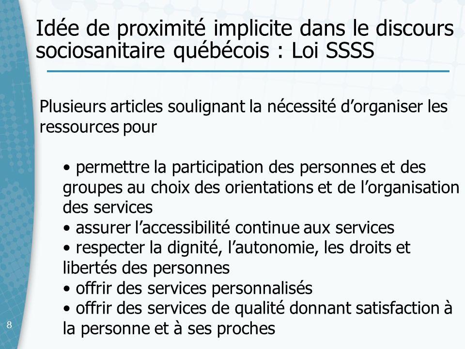 88 Plusieurs articles soulignant la nécessité dorganiser les ressources pour permettre la participation des personnes et des groupes au choix des orie