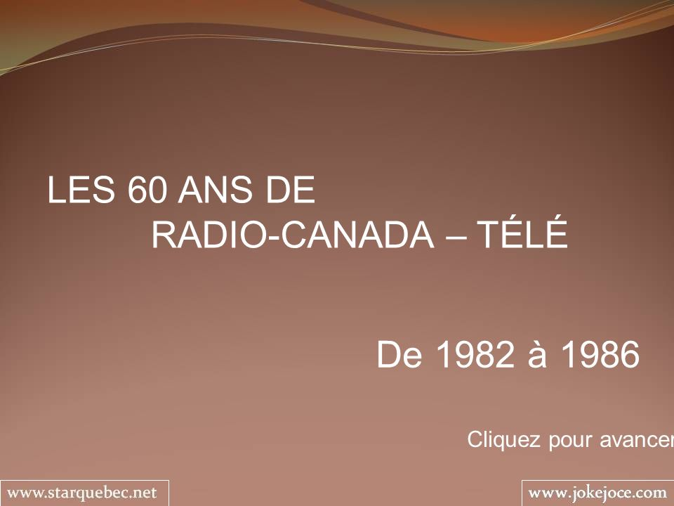 1984 – 1987 AU JEU Serge Thériault et Josée Cusson Les jeunes ont été très gâtés par Radio-Canada qui leur a offert des émissions de qualité et de tous les styles à travers les ans.