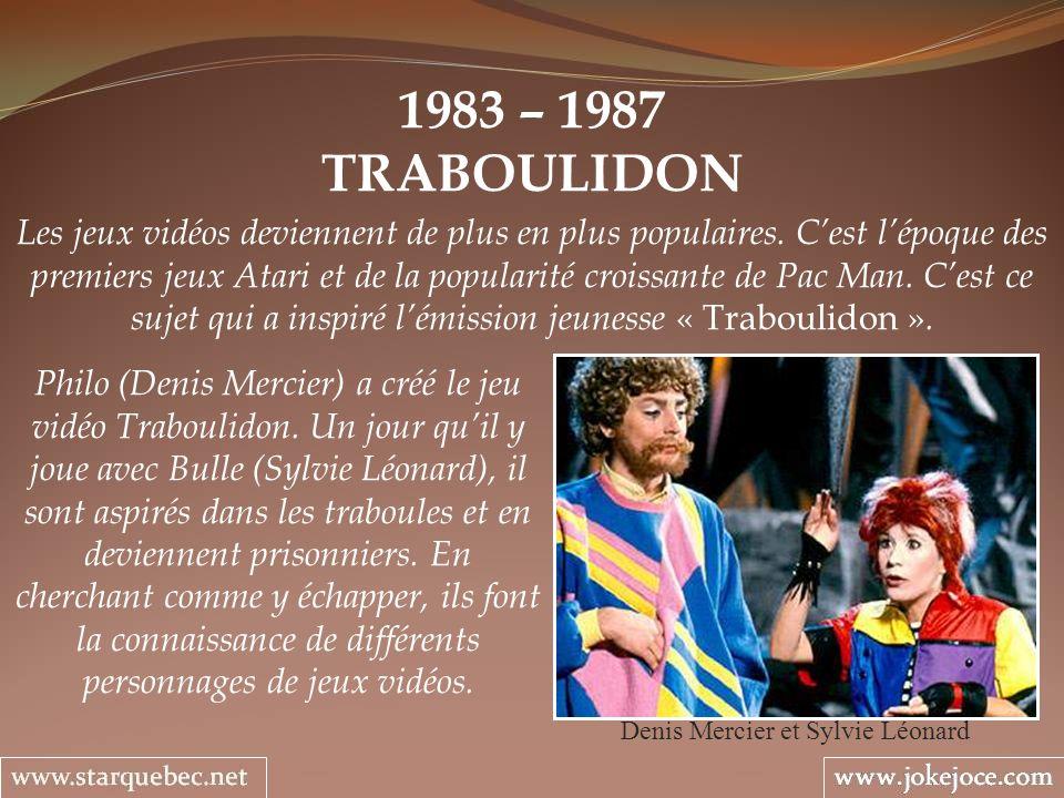 1983 – 1987 TRABOULIDON Denis Mercier et Sylvie Léonard Les jeux vidéos deviennent de plus en plus populaires. Cest lépoque des premiers jeux Atari et