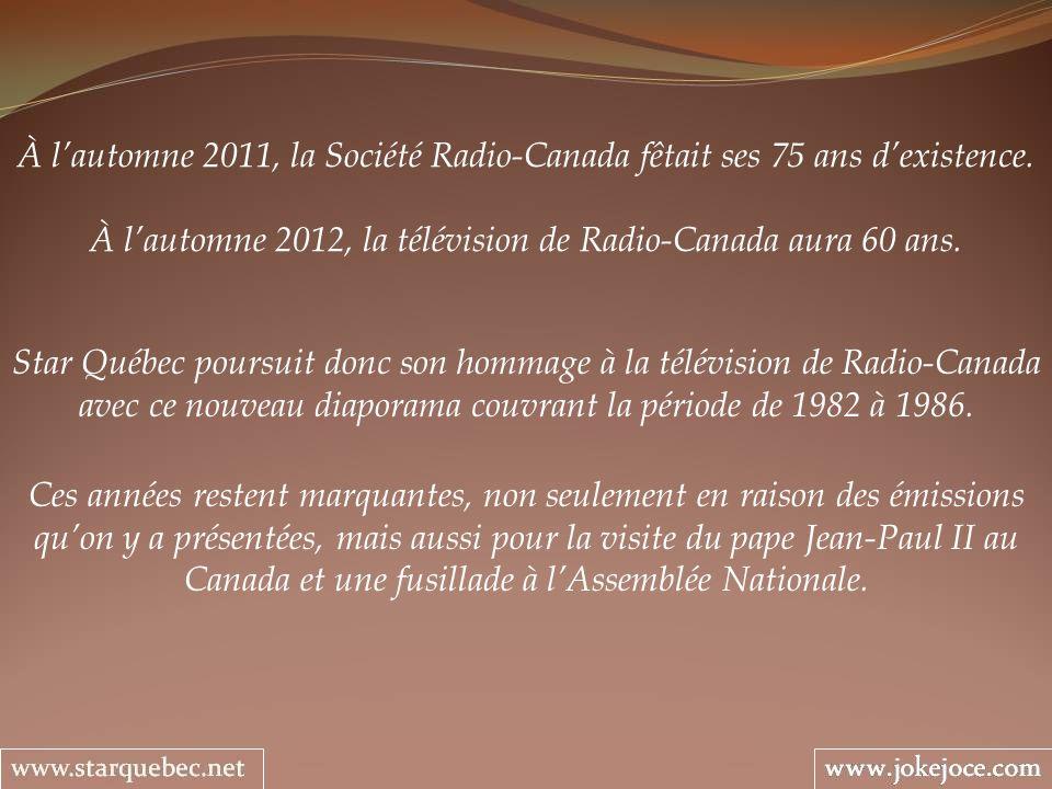 1986 – 1989 LES INSOLENCES DUNE CAMÉRA Alain Stanké Lanimateur est nulle autre quAlain Stanké qui connaît bien le sujet.