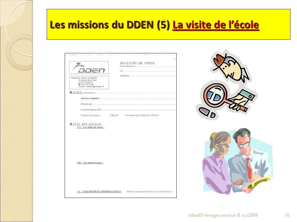 Les missions du DDEN (5) La visite de lécole 10dden87-limoges version B oct2009