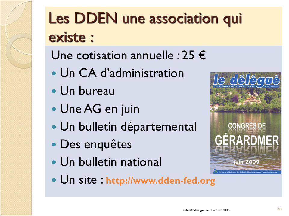 Les DDEN une association qui existe : Une cotisation annuelle : 25 Un CA dadministration Un bureau Une AG en juin Un bulletin départemental Des enquêt