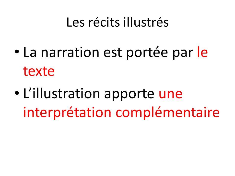 Les récits illustrés La narration est portée par le texte Lillustration apporte une interprétation complémentaire