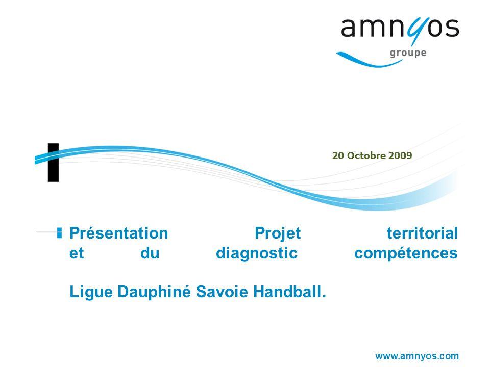 www.amnyos.com Présentation Projet territorial et du diagnostic compétences Ligue Dauphiné Savoie Handball. 20 Octobre 2009