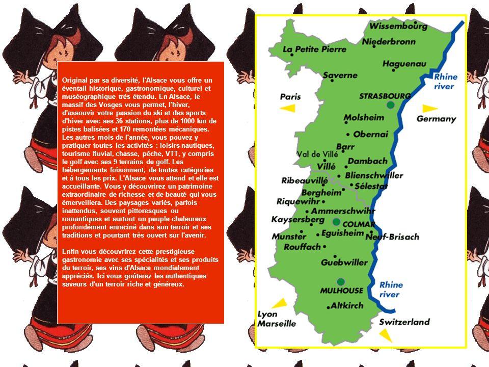 Original par sa diversité, l Alsace vous offre un éventail historique, gastronomique, culturel et muséographique très étendu.
