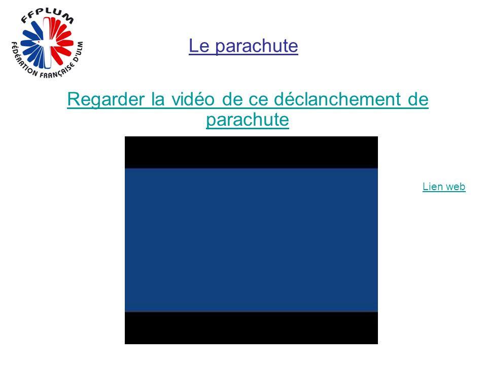 Le parachute Regarder la vidéo de ce déclanchement de parachute Lien web