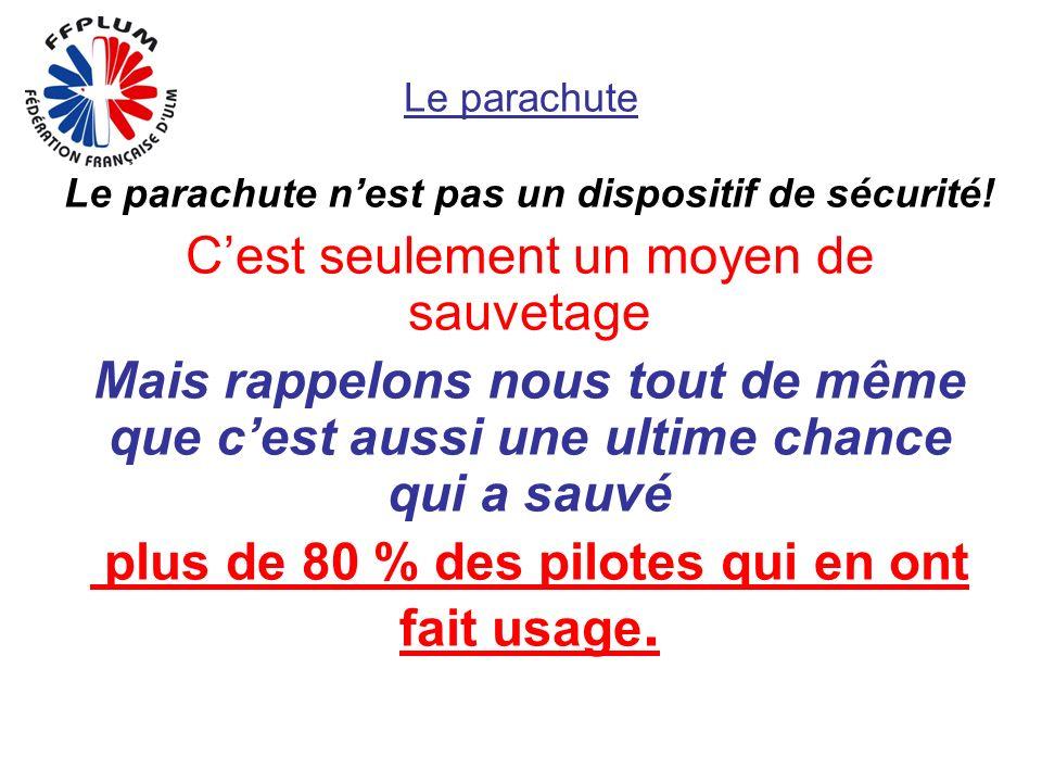 Le parachute Le parachute nest pas un dispositif de sécurité.