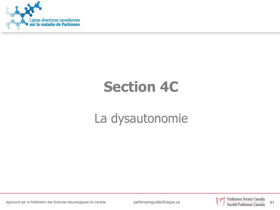 61 La dysautonomie Section 4C