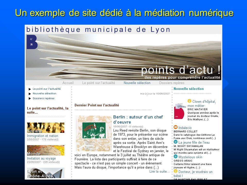 Un exemple de site dédié à la médiation numérique