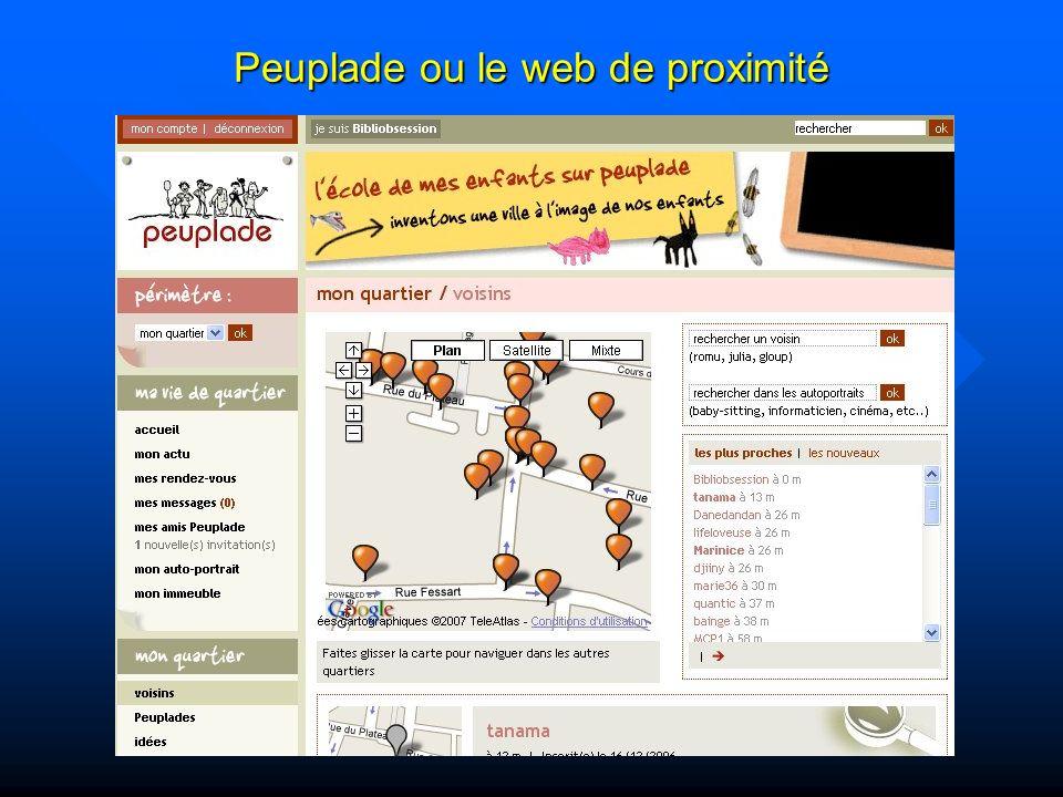 Peuplade ou le web de proximité