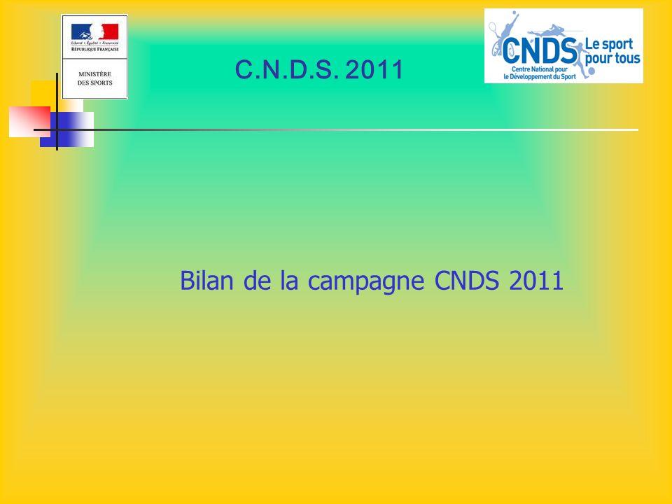 C.N.D.S. 2011 Bilan de la campagne CNDS 2011