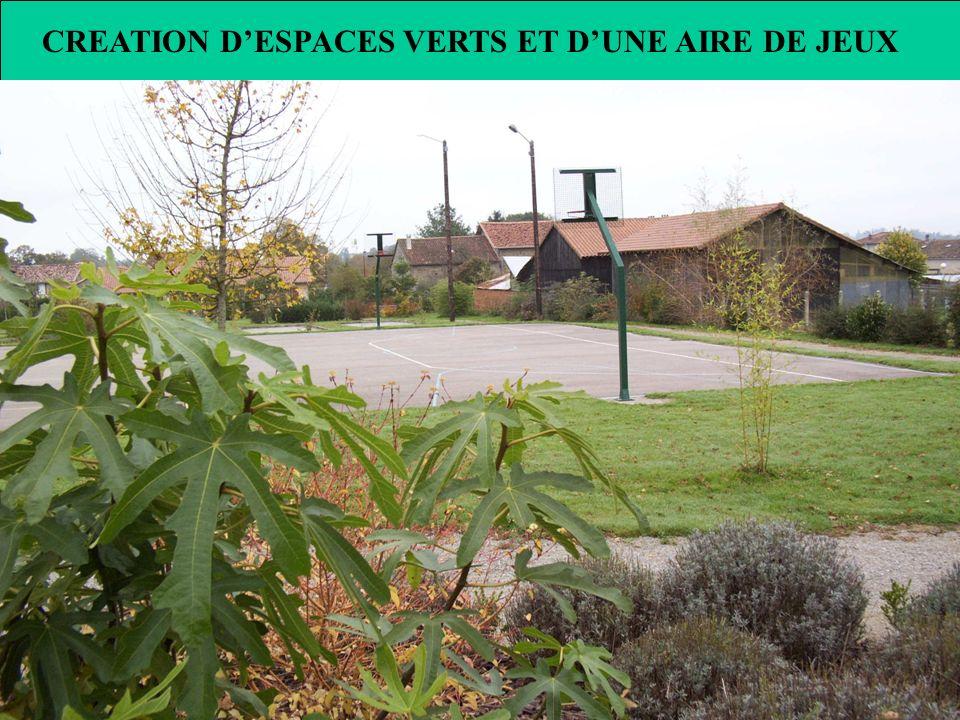 CREATION DESPACES VERTS ET DUNE AIRE DE JEUX