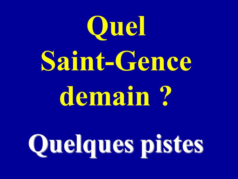 Quel Saint-Gence demain ? Quelques pistes
