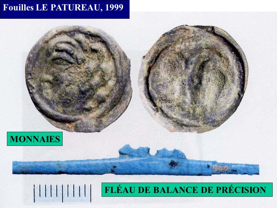 Fouilles LE PATUREAU, 1999 MOULES MONÉTAIRES A FLANCS