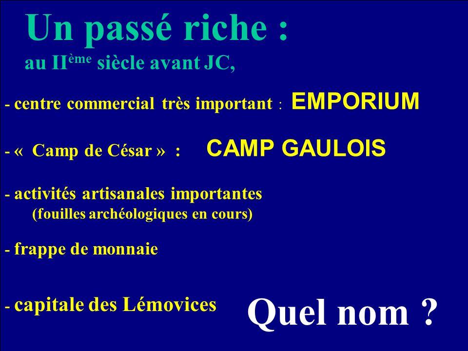 Loccupation gallo-romaine continue - migration des habitants de « Saint-Gence » vers la nouvelle capitale.