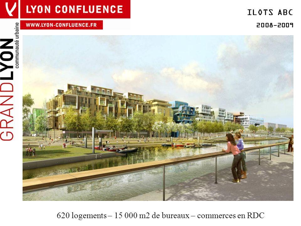 ILOTS ABC 2008-2009 620 logements – 15 000 m2 de bureaux – commerces en RDC