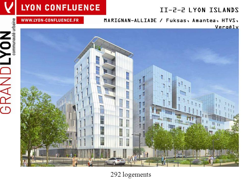 II-2-2 LYON ISLANDS MARIGNAN-ALLIADE / Fuksas, Amantea, HTVS, Vergély 292 logements