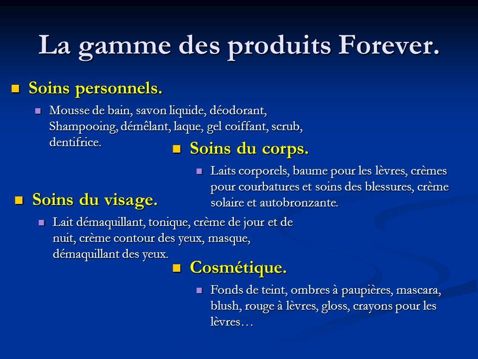 La gamme des produits Forever.Soins personnels. Soins personnels.