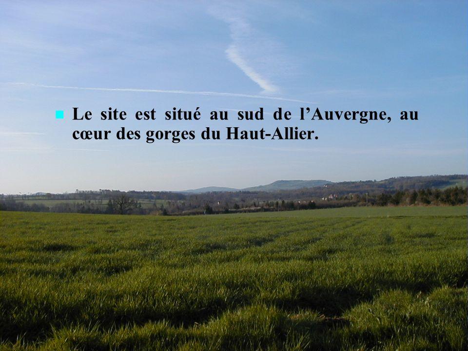 BRIOUDE 2009 cliquez pour passer à la page suivante 4 Le site est situé au sud de lAuvergne, au cœur des gorges du Haut-Allier.