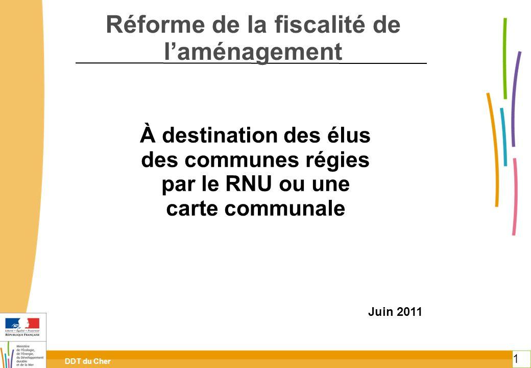DDT du Cher 1 Ministère de lécologie, du développement durable, des transports et du logement Des communes régies par le RNU Ou une carte communale Ré