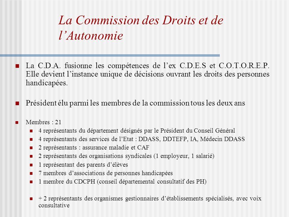 La Commission des Droits et de lAutonomie La C.D.A.