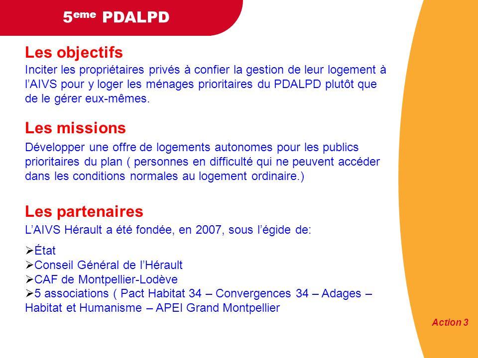 5 eme PDALPD Les objectifs 23 LILLe Inciter les propriétaires privés à confier la gestion de leur logement à lAIVS pour y loger les ménages prioritaires du PDALPD plutôt que de le gérer eux-mêmes.
