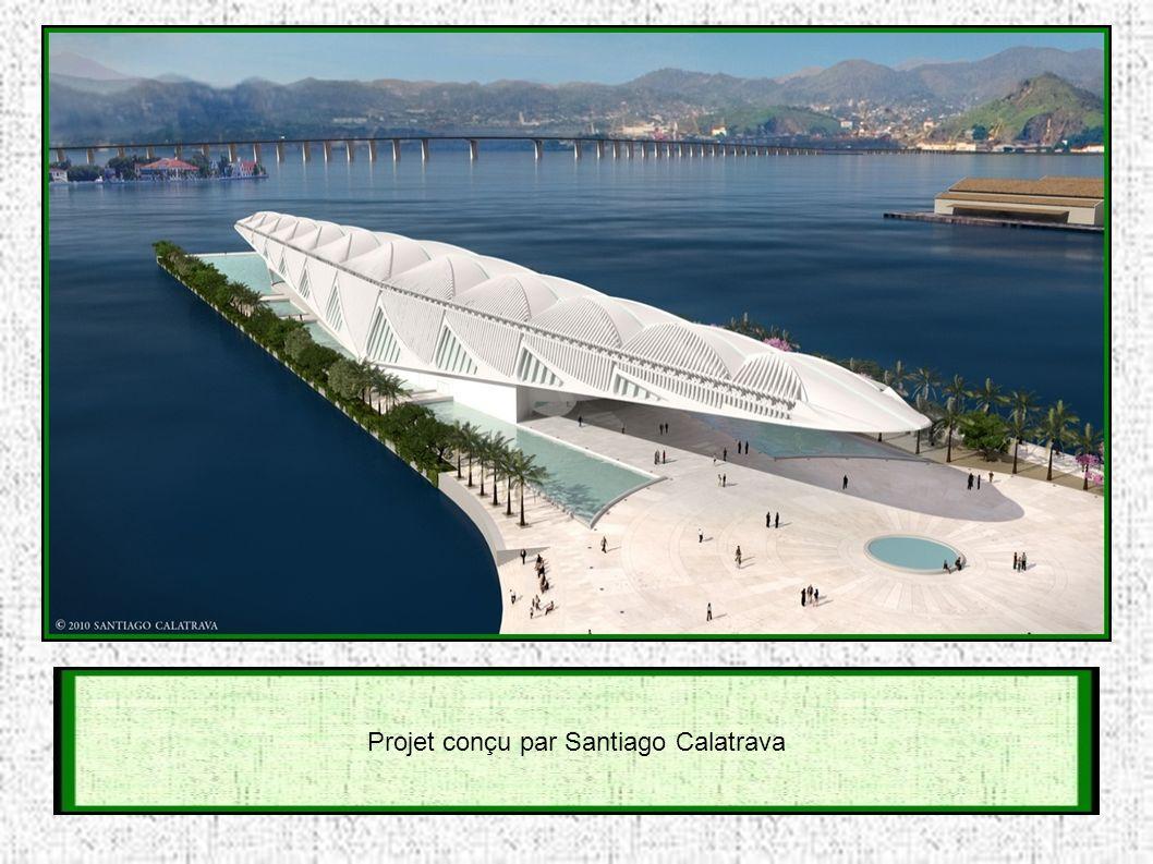 L eau de la baie de Rio, sera utilisée, pour climatiser le bâtiment, tandis que de grandes structures mobiles en acier sur le toit, bougeront comme des ailes et serviront à capter l énergie solaire.