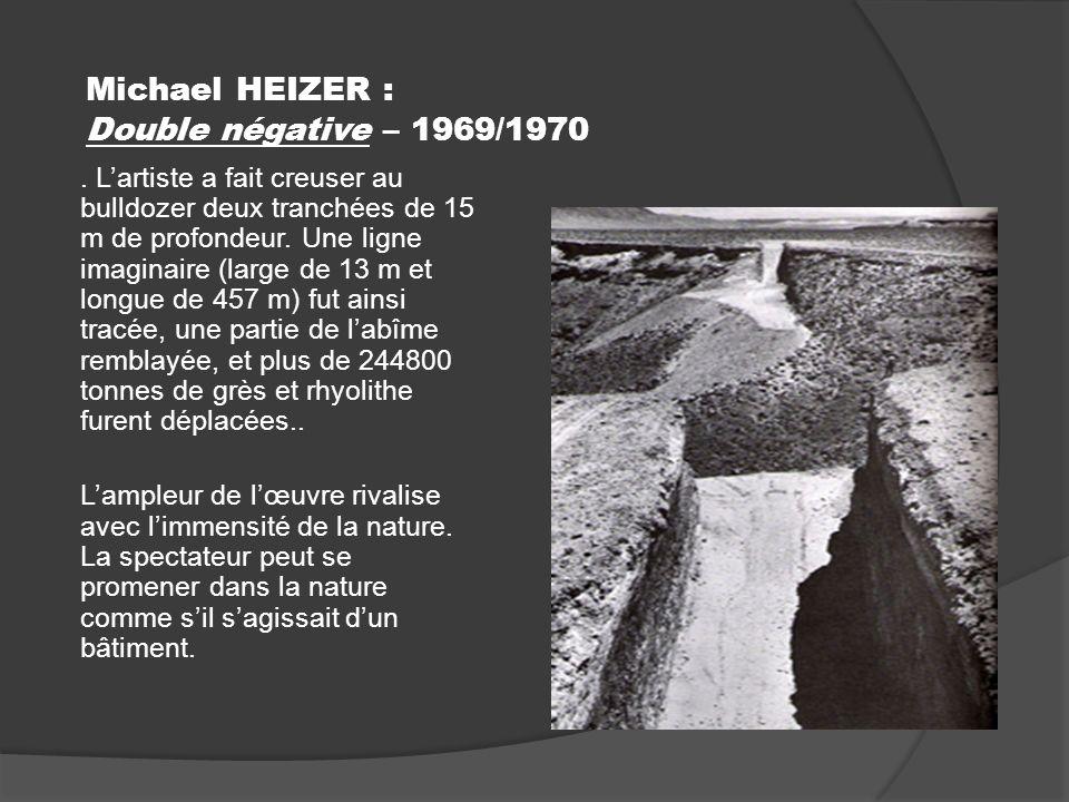 Michael HEIZER : Double négative – 1969/1970.