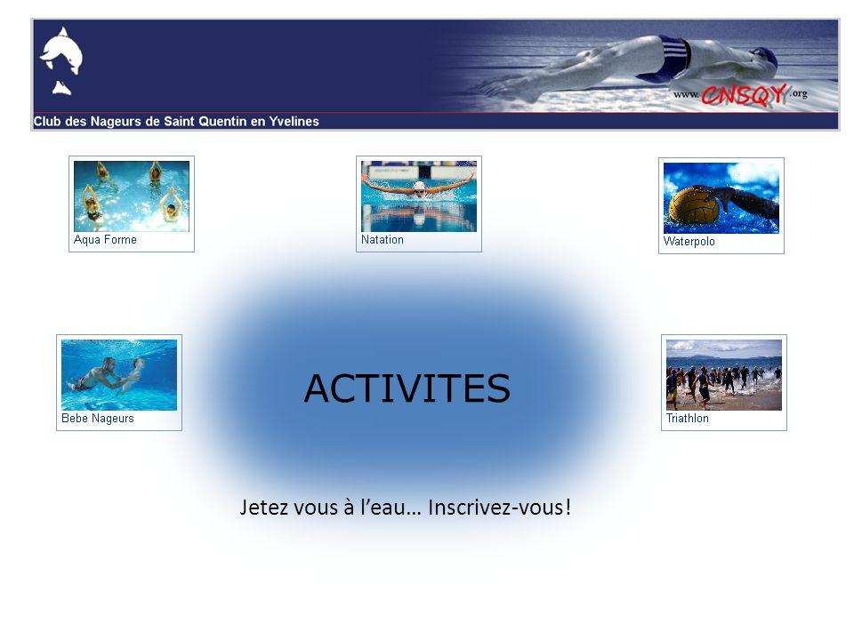 Ecole de natation jeunes Groupes EN : dès 5-6 ans...