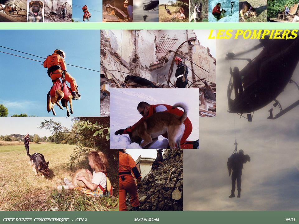 Les pompiers CHEF DUNITE CYNOTECHNIQUE - CYN 2 MAJ 01/02/08 09/21