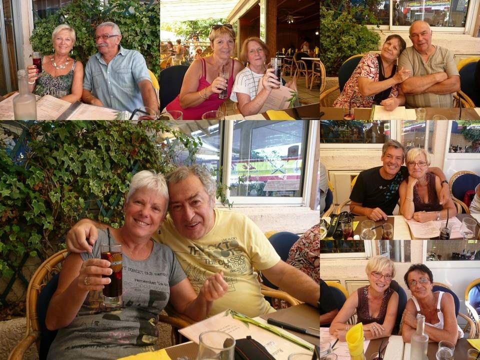 Pour terminer cette matinée nous nous sommes tous retrouvés dans un de ces petits restaurants sympathiques de Marseillan-Plage