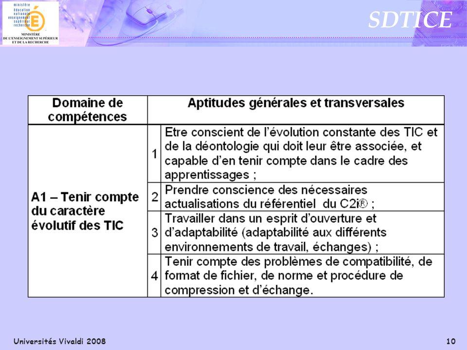 Universités Vivaldi 2008 10 SDTICE