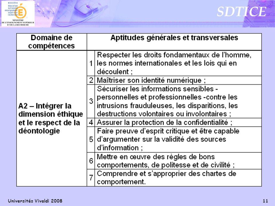 Universités Vivaldi 2008 11 SDTICE