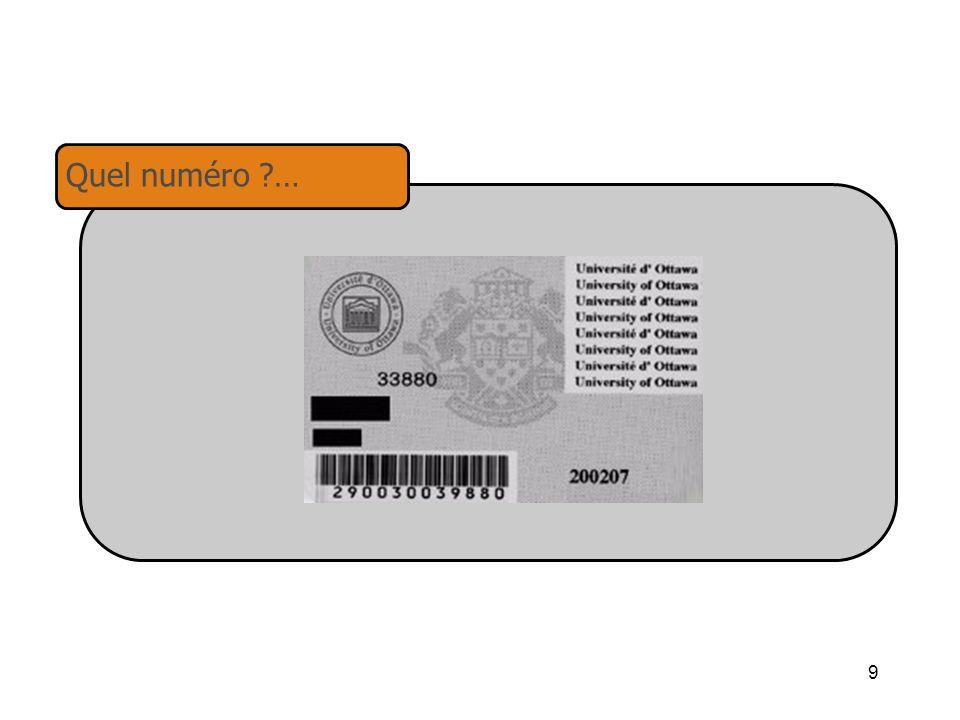 9 Quel numéro ?…