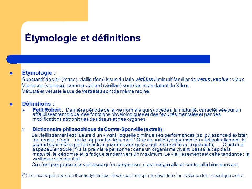 Étymologie et définitions Étymologie : Étymologie : Substantif de vieil (masc), vieille (fem) issus du latin vètùlus diminutif familier de vetus, vecl