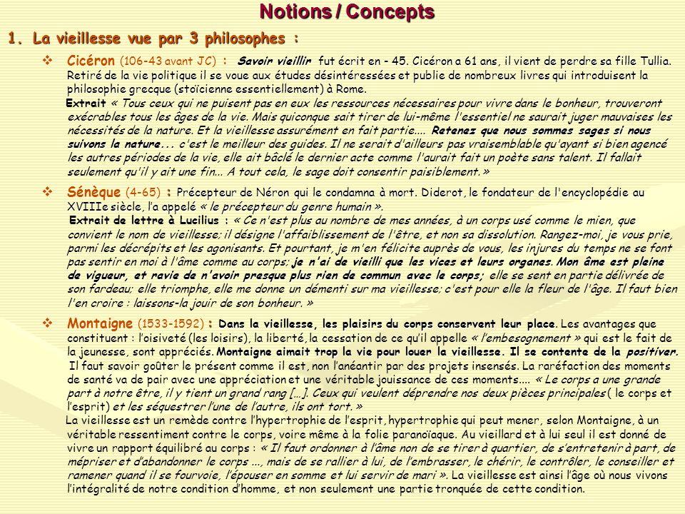 Notions / Concepts (suite) Notions / Concepts (suite) 2.Stoïcisme et épicurisme : 2.Stoïcisme et épicurisme : deux sagesses qui sopposent ou se complètent .
