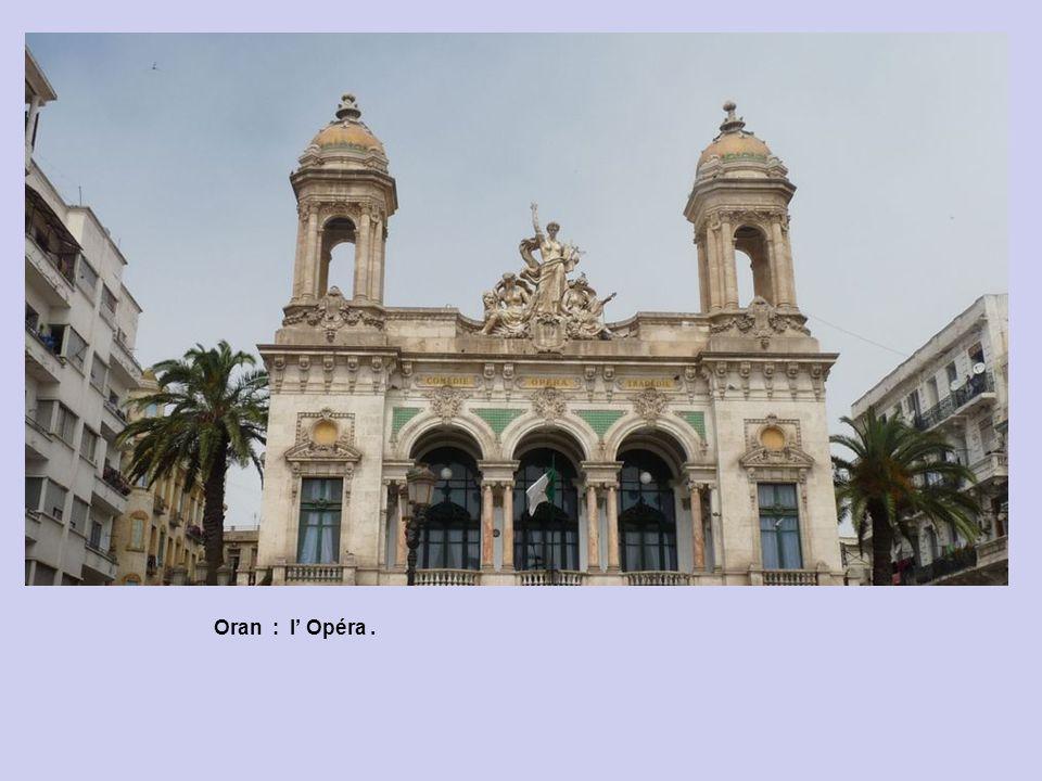 Oran : Au Lion à Hôtel de Ville. A larrière l Opéra. Oran : vers l Hôtel de Ville.