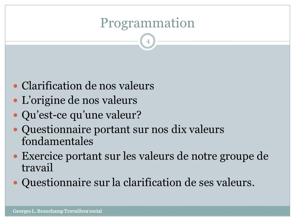 Programmation Georges L.