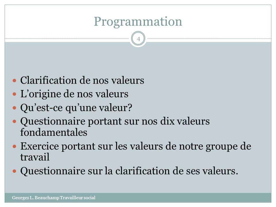 Lévolution des valeurs-les valeurs centrales Georges L.