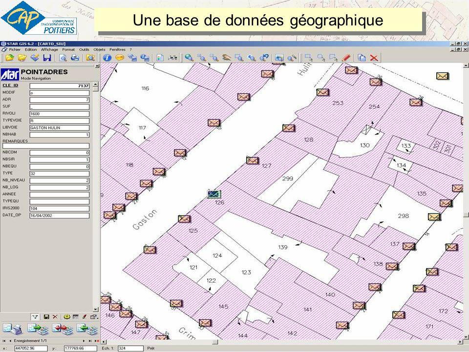 17 13/05/2009 – Un Référentiel adresses pour le SIG de la CAP - v1 – Rédacteur : Jean-Michel PIGNON jean-michel.pignon@agglo-poitiers.fr Une base de données géographique