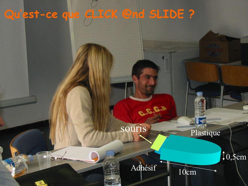 Plastique Adhésif souris 10cm 0,5cm Quest-ce que CLICK @nd SLIDE ?