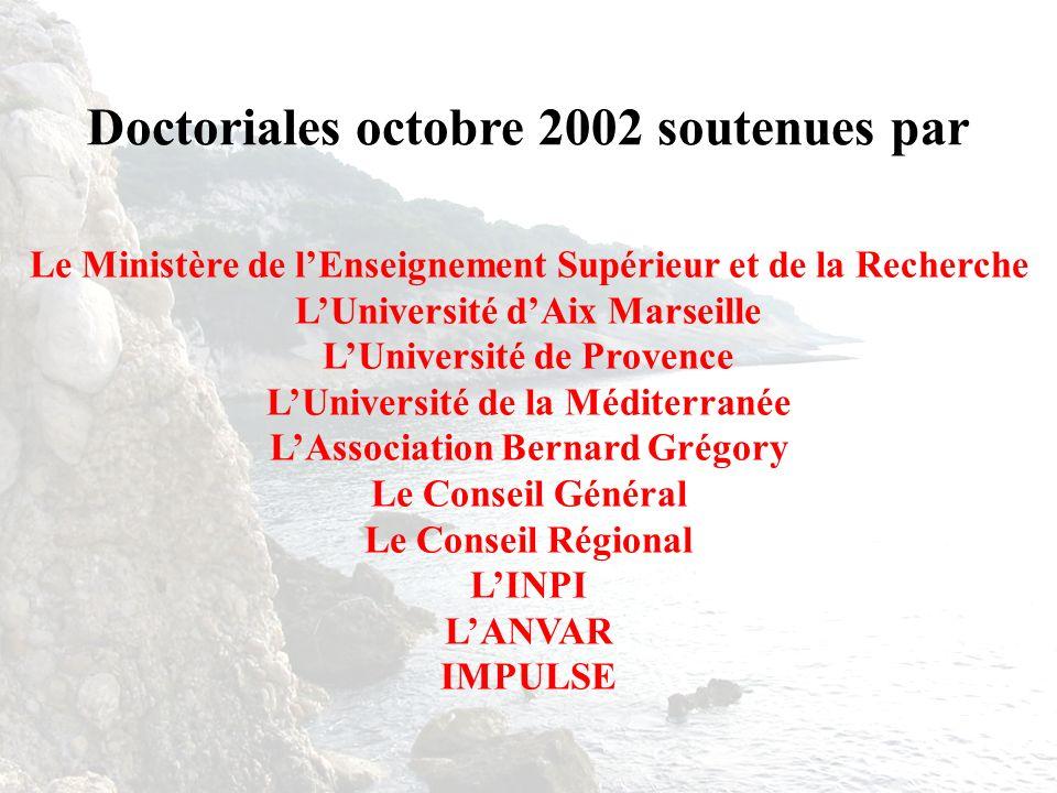 Le Ministère de lEnseignement Supérieur et de la Recherche LUniversité dAix Marseille LUniversité de Provence LUniversité de la Méditerranée LAssociat