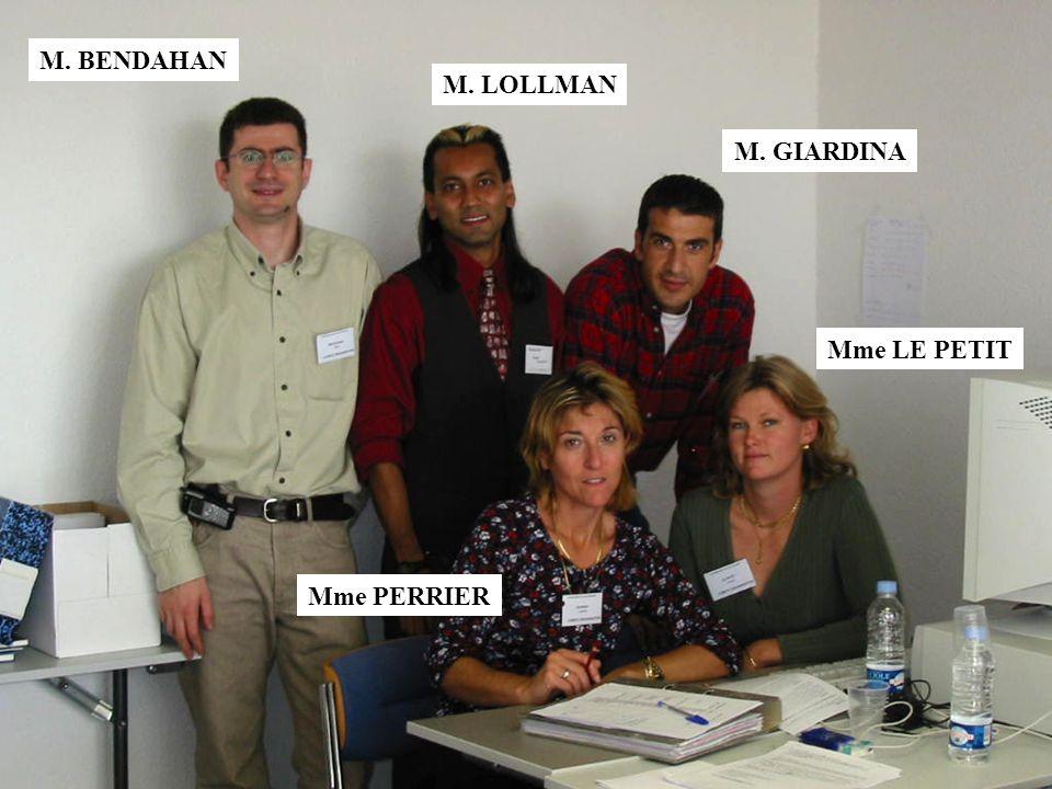 M. GIARDINA Mme LE PETIT Mme PERRIER M. LOLLMAN M. BENDAHAN