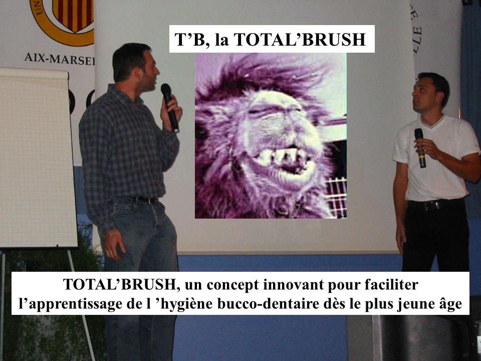 TB, la TOTALBRUSH TOTALBRUSH, un concept innovant pour faciliter lapprentissage de l hygiène bucco-dentaire dès le plus jeune âge
